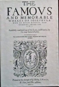 Anglické vydání díla Josepha Flavia z roku 1602