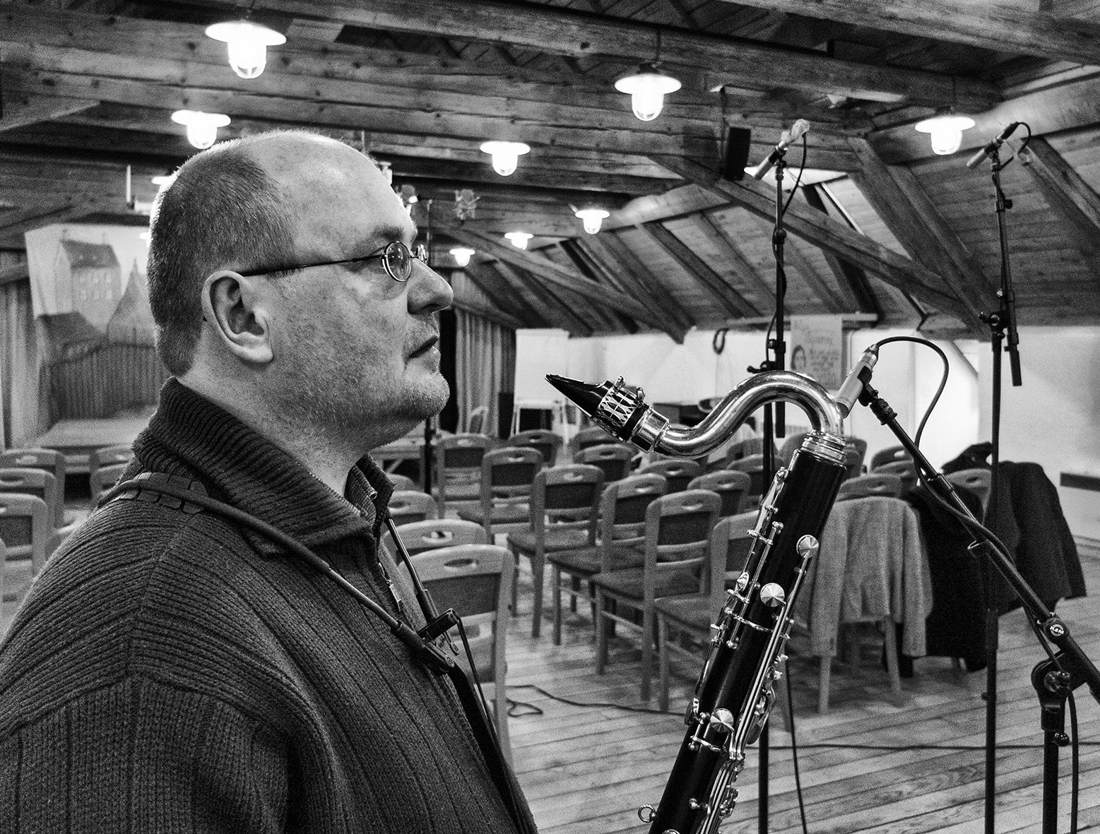Michal Hrubý je vedoucím kvarteta Květovaný kůň (foto Tomáš Vejmelka)