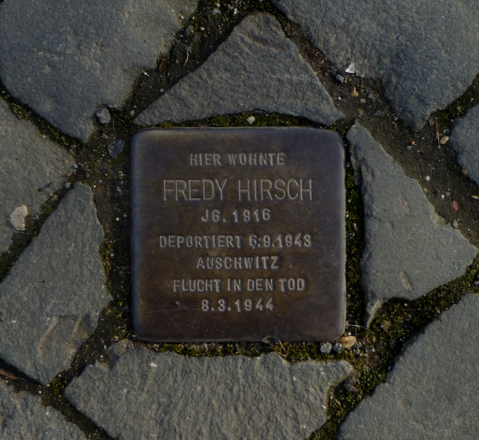 Kámen zmizelých v německých Cáchách