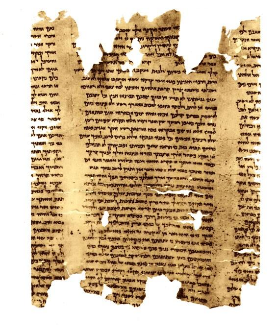 Část svitku s textem Izajáše (Wikipedia)