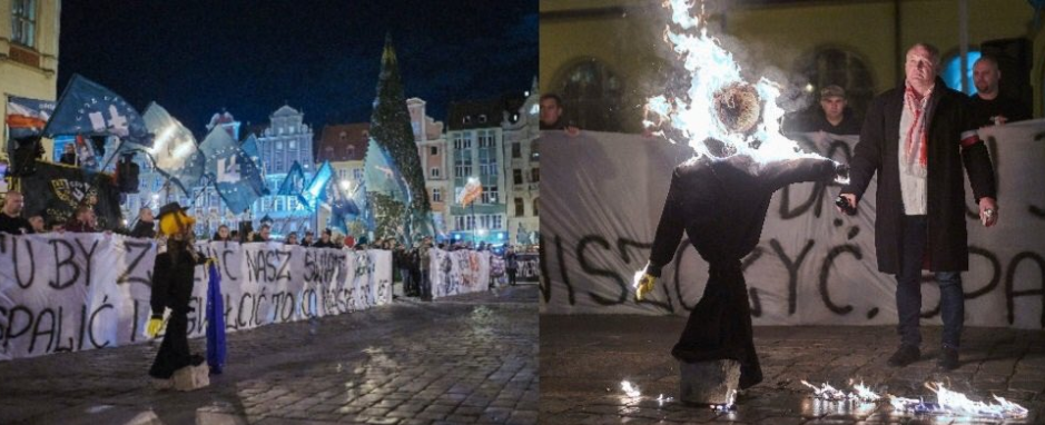 Vratislav demonstrace proti imigraci (Yiddish News)