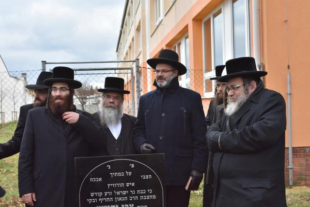 S vrchním vídeňským rabínem Arie Folgerem přijeli do Prostějova i další hosté z hlavního města Rakouska